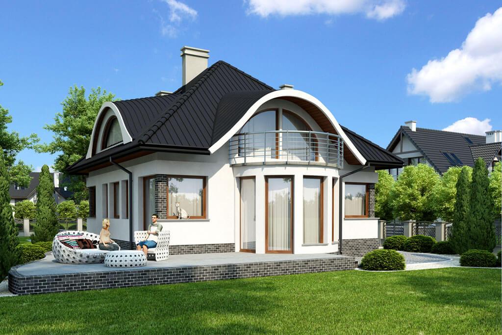 Дизайн одноэтажных домов с мансардой снаружи