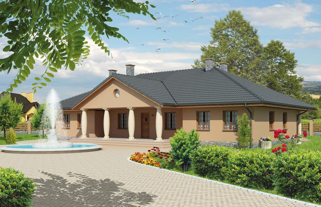 Projekt domu EŁK 2, L-6471, pow. uż. 206.30 m2 - Projekty domów Biuro Architektoniczne KB Projekt