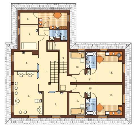 Projekt salonu odnowy biologicznejBudynek usługowo - mieszkalny, LK-14, pow. uż. 396.90 m2 ...