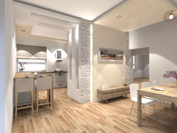 Projekt domu OCHOJEC, DM 6170, pow uż 177 50 m2  Projekty domów Biuro Arch   -> Kuchnia I Salon Aranżacje